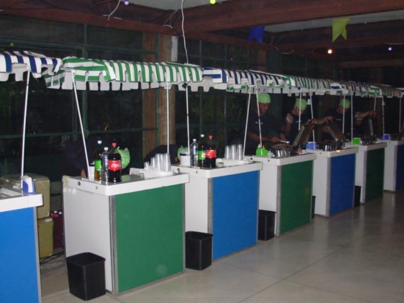 Barraquinha de Mini Pizza para Festa de Casamento Locação Brooklin - Barraquinha de Mini Pizza para Buffet