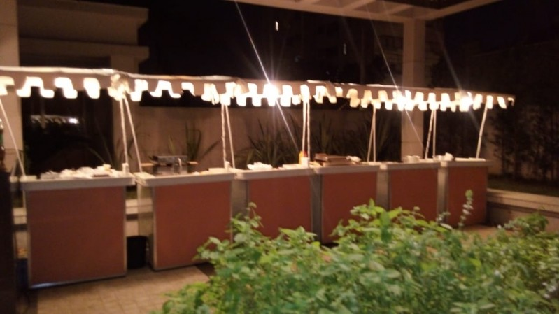 Barraquinha de Pastel de Festa a Domicílio Aluguel Jardins - Barraquinha de Pastel Simples