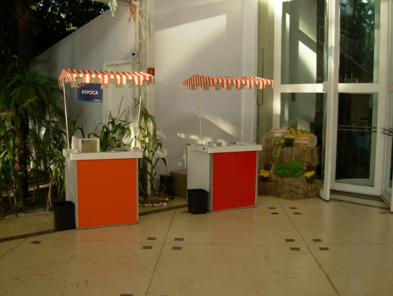 Barraquinha de Pastel Personalizada Jardim Trussardi - Barraquinha de Pastel para Evento Corporativo