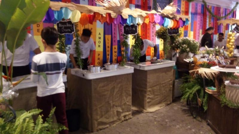 Barraquinha de Pastel Simples Jardim das Palmas - Barraquinha de Pastel para Festa de Casamento