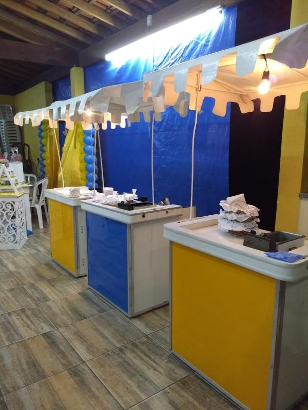 Barraquinha para Festa a Domicilio Preço Tremembé - Barraquinha de Comida Festa Infantil