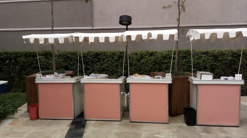Barraquinhas de Crepe Suiço para Festa Jardim São Paulo - Barraquinha de Crepe no Palito