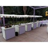 barraquinha de hambúrguer para festa Parque Ibirapuera