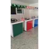 barraquinha de mini pizza para evento locação Casa Verde Média